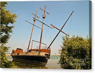 Canvas Print featuring the photograph Pirate Ship Or Sailing Ship by Sue Smith