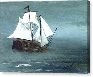 Pirate Ship Canvas Print by Phyllisann Arthurs