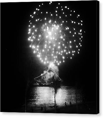 Pirates And Fireworks Canvas Print by Natasha Marco