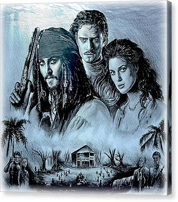 Orlando Bloom Canvas Print - Pirates by Andrew Read
