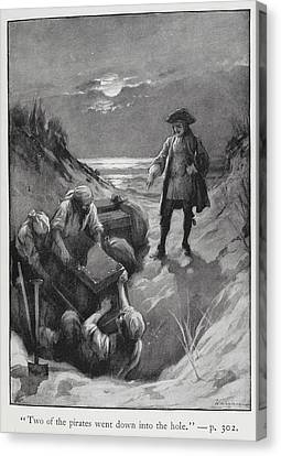 Pirates Burying Treasure Canvas Print by British Library