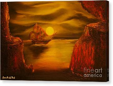Pirates Cave- Original Sold - Buy Giclee Print Nr 27 Of Limited Edition Of 40 Prints  Canvas Print