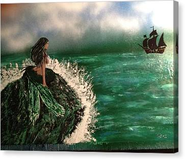 Canvas Print featuring the painting Pirates Cove by Michael Rucker