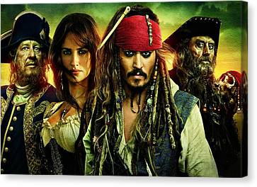 Pirates Of The Caribbean Stranger Tides Canvas Print by Movie Poster Prints