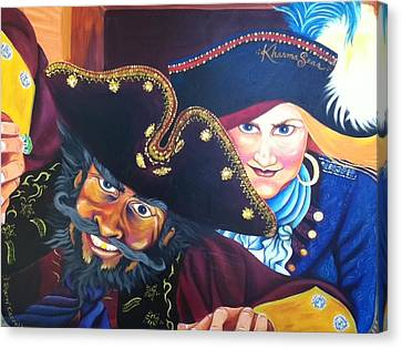 Pirates Canvas Print by Sherri Carroll