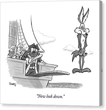 Pirates Speak To Wile E. Coyote Canvas Print
