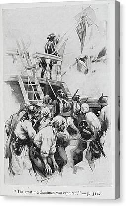 Pirates Waiting To Board A Ship Canvas Print by British Library