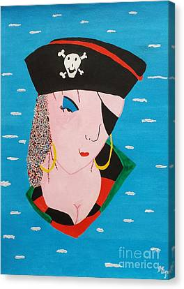 Piratess Of The Sea Canvas Print by Lisa Byrne