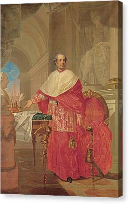 Pirovani Giuseppe, Portrait Of Cardinal Canvas Print by Everett