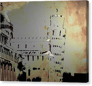Canvas Print featuring the digital art Pisa Italy 1 by Brian Reaves