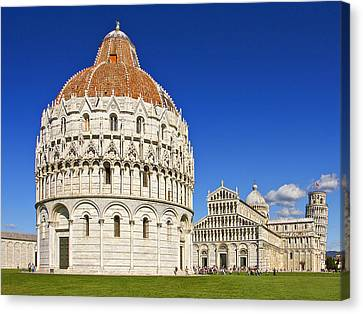 Canvas Print featuring the photograph Pisa - Piazza Dei Miracoli by Kim Andelkovic