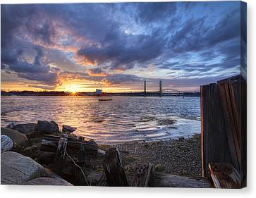 Piscataqua Sunset Canvas Print by Eric Gendron
