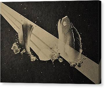 Piscean Astronaut Canvas Print by Andrew Morse