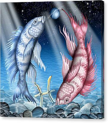 Astrology Canvas Print - Pisces by Ciro Marchetti