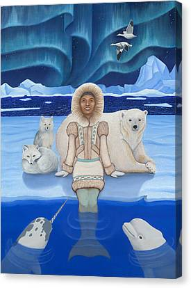 Pisces / Sedna Canvas Print by Karen MacKenzie