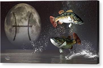 Pisces Zodiac Symbol Canvas Print
