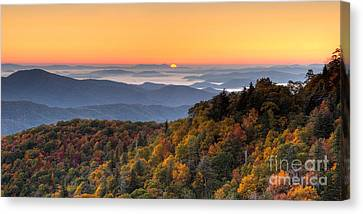 Pisgah Sunrise - Blue Ridge Parkway Canvas Print by Dan Carmichael