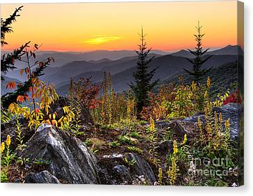 Pisgah Sunset - Blue Ridge Parkway Canvas Print