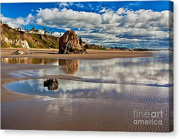 Clouds Canvas Print - Pismo Beach At Low Tide by Mimi Ditchie