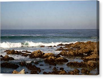 Pismo Beach Seascape Canvas Print by Barbara Snyder