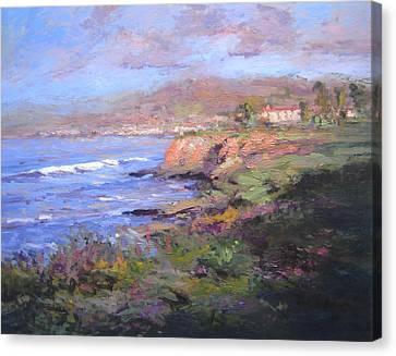Pismo Beach Sunrise Canvas Print by R W Goetting
