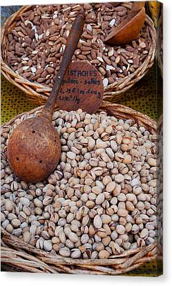 Pistachios For Sale At Weekly Market Canvas Print by Panoramic Images