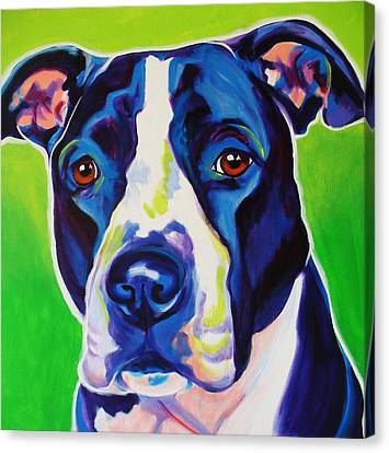 Pit Bull - Sadie Canvas Print by Alicia VanNoy Call