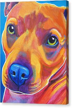Pit Bull - Boo Canvas Print by Alicia VanNoy Call