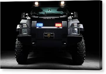 Pit Bull Swat Truck Canvas Print by Marvin Blaine