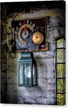 Pit Lift Control Canvas Print by Adrian Evans