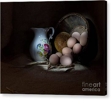 Pitcher And Eggs Canvas Print by Cecil Fuselier