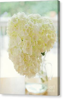 Pitcher Of Hydrangeas Canvas Print by Kay Pickens