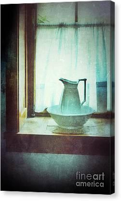 Old Pitcher Canvas Print - Pitcher On Windowsill by Jill Battaglia