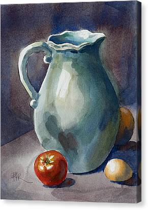 Pitcher With Tomato Canvas Print by Pablo Rivera