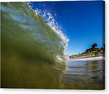 Pitching Wave Canvas Print by David Alexander