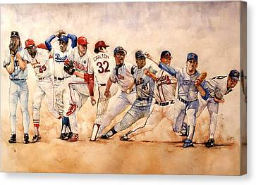 Mets Canvas Print - Pitching Windup  by Michael  Pattison