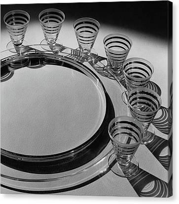 Pitt Petri Tableware Canvas Print by Dana B. Merrill