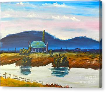 Canvas Print featuring the painting Pittown by Pamela  Meredith
