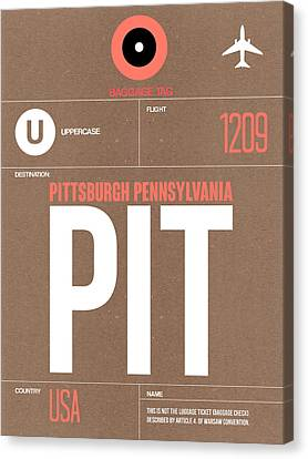 Pittsburgh Canvas Print - Pittsburgh Airport Poster 2 by Naxart Studio