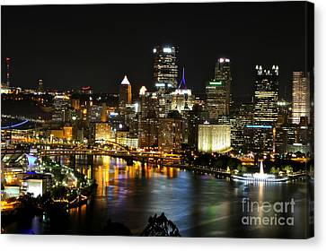 Pittsburgh Autumn Night 1 Canvas Print