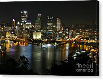 Pittsburgh Autumn Night 2 Canvas Print
