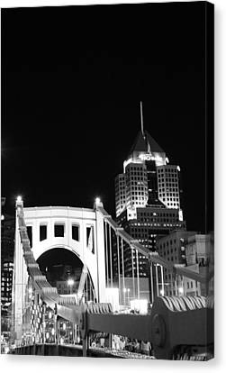 Pittsburgh Bridge Canvas Print by Josh Ebel