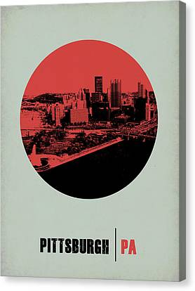 Pittsburgh Circle Poster 2 Canvas Print by Naxart Studio