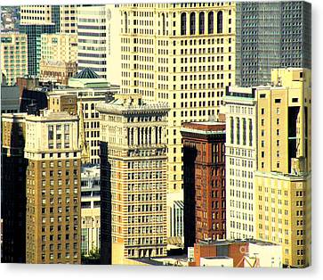 Pittsburgh City Of Windows Canvas Print by Joe Jake Pratt