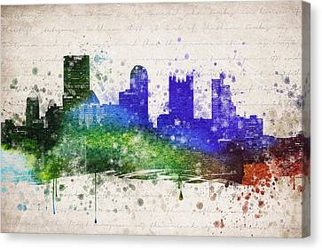 Pittsburgh In Color Canvas Print by Aged Pixel