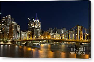Pittsburgh Lights Canvas Print by Mike Vosburg
