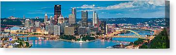 Pittsburgh New Fountain Canvas Print by Emmanuel Panagiotakis