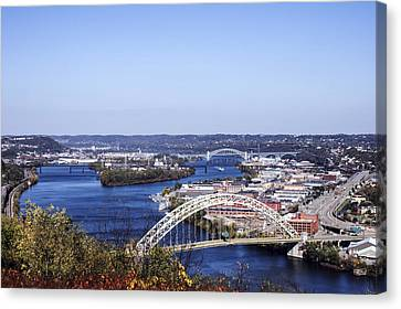 Pittsburgh North Canvas Print by Michelle Joseph-Long