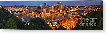 Pittsburgh Overlook Panorama Canvas Print by Adam Jewell