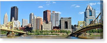 Pittsburgh Panoramic Canvas Print by Frozen in Time Fine Art Photography